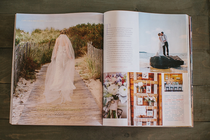 Southern New Engalnd Weddings Magazine Cape Cod Feature