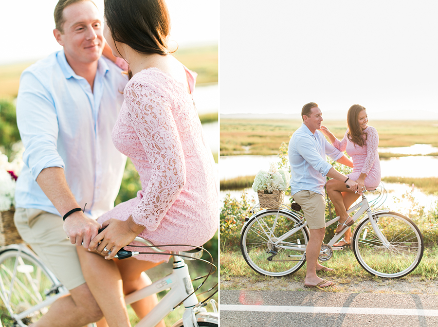 Dailyn and Jack Newburyport Bicycle Engagement Photos by Rebecca Arthurs