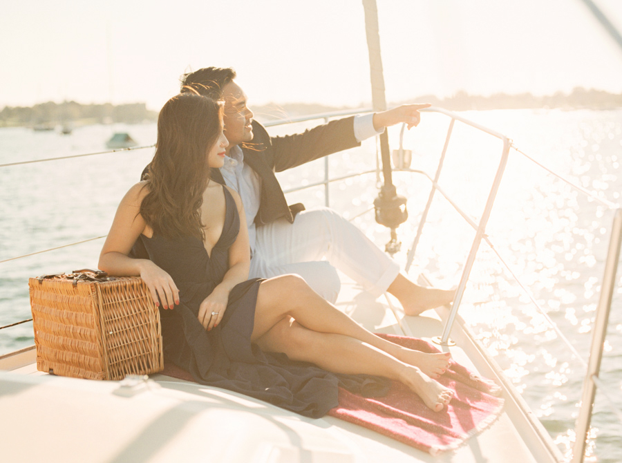 Newport Elms Sailboat Engagement Photos Daryl & PJ by Rebecca Ar